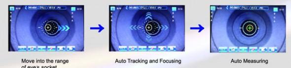 auto-refractometer-keratometer-grk8909-capturing